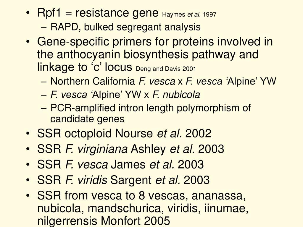 Rpf1 = resistance gene