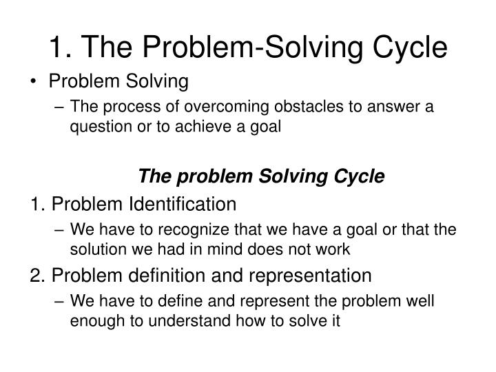 1 the problem solving cycle