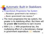 automatic built in stabilizers