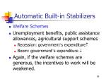 automatic built in stabilizers59