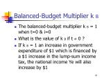 balanced budget multiplier k b47