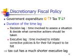 discretionary fiscal policy62