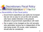 discretionary fiscal policy63