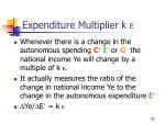 expenditure multiplier k e43