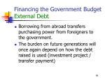 financing the government budget external debt