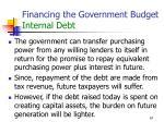 financing the government budget internal debt