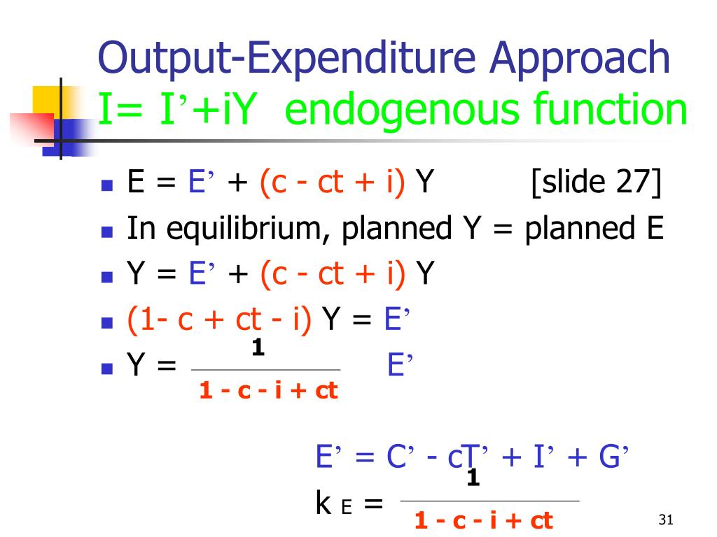 Output-Expenditure Approach