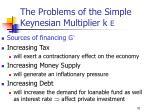 the problems of the simple keynesian multiplier k e70