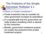 the problems of the simple keynesian multiplier k e71