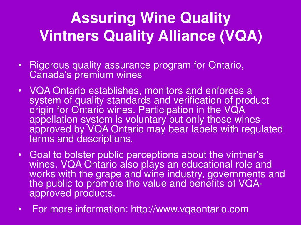 Assuring Wine Quality