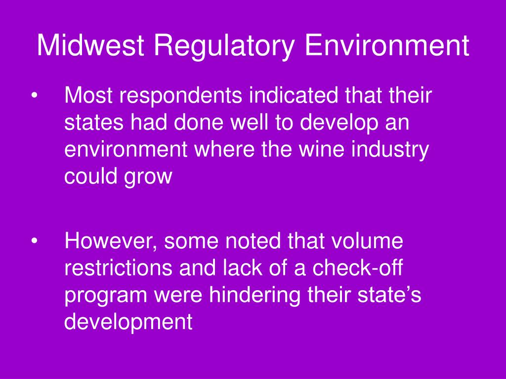 Midwest Regulatory Environment