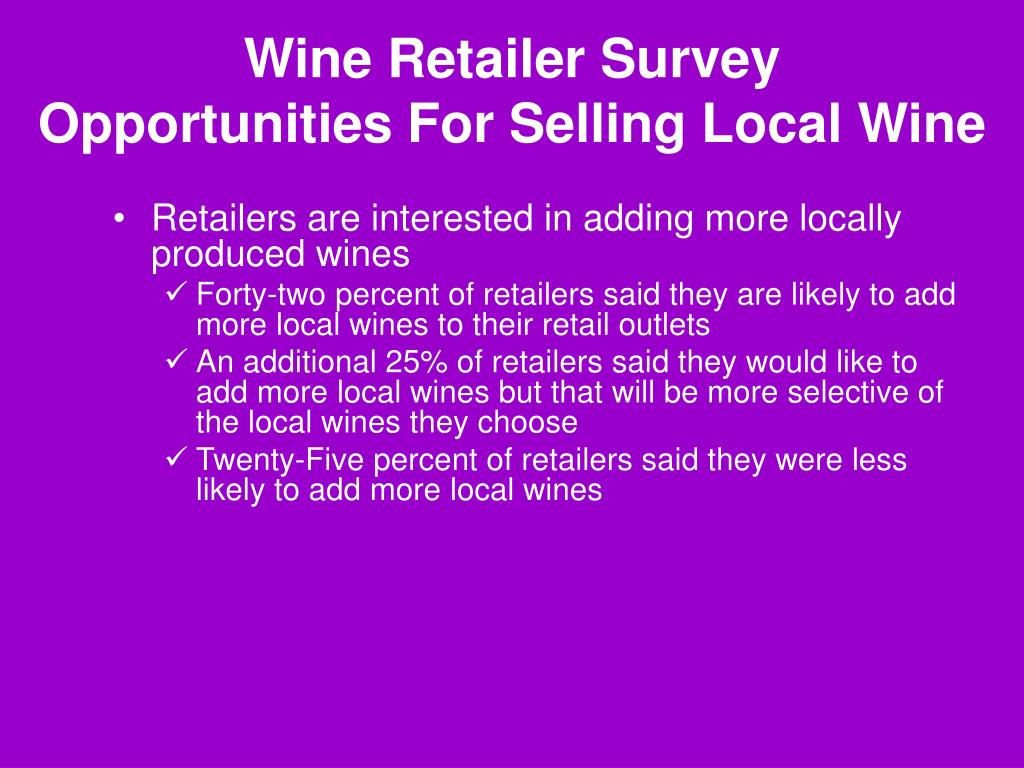 Wine Retailer Survey