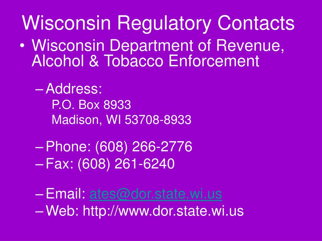 Wisconsin Regulatory Contacts