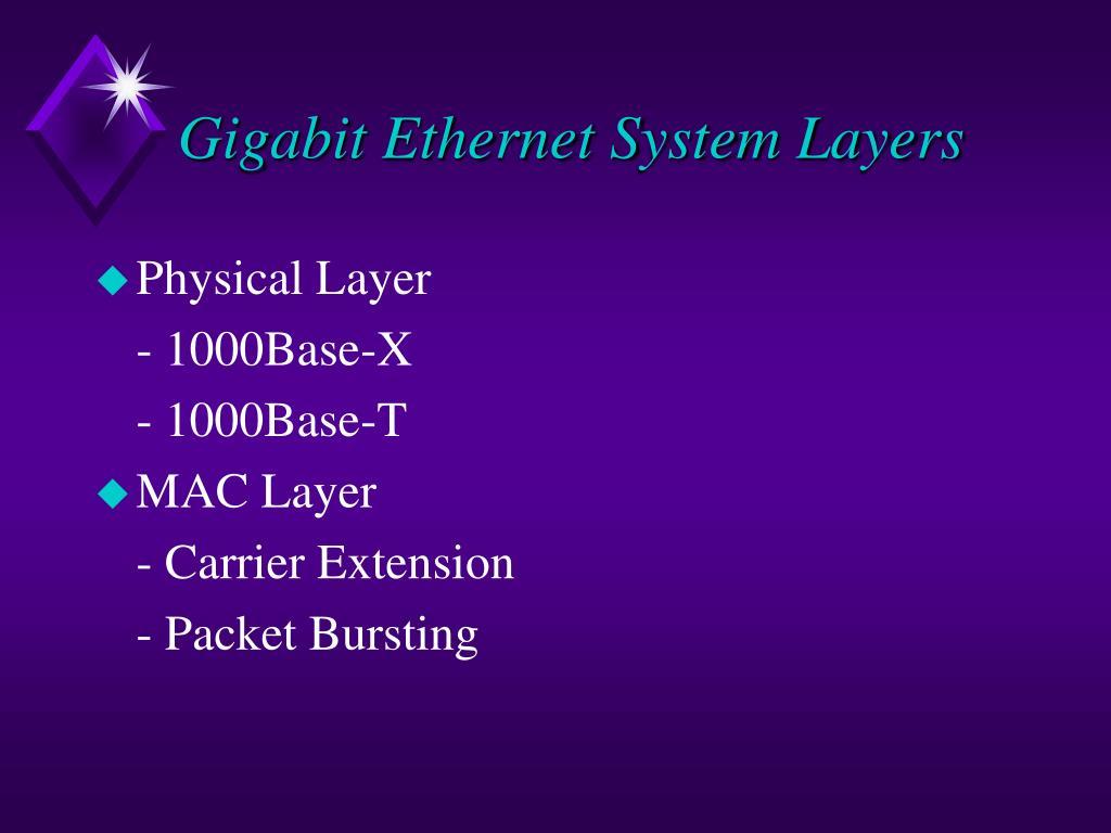 Gigabit Ethernet System Layers