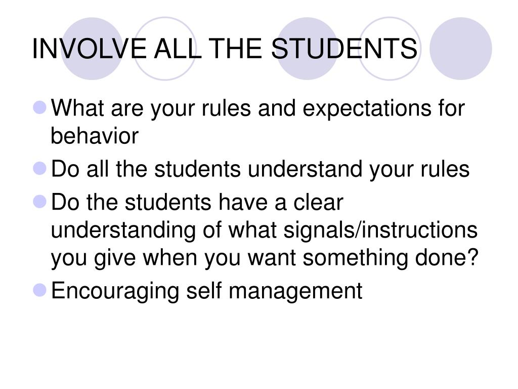 INVOLVE ALL THE STUDENTS