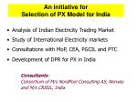 an initiative for selection of px model for india