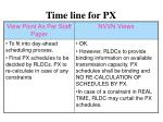 time line for px