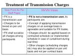 treatment of transmission charges