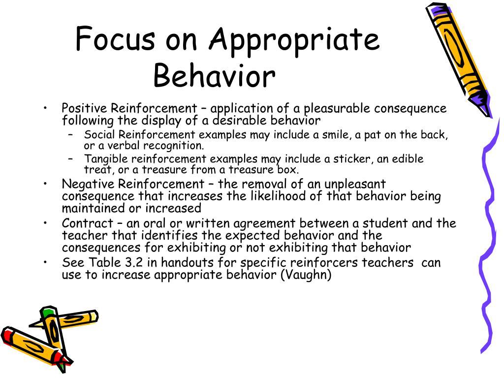 Focus on Appropriate Behavior
