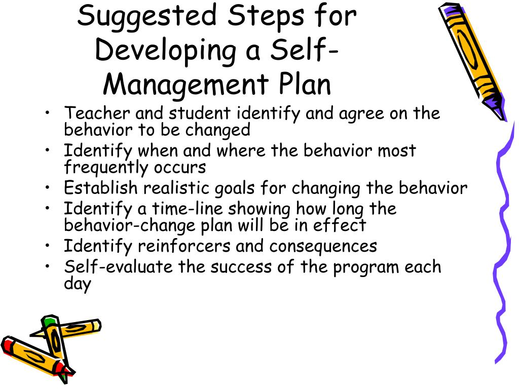 Suggested Steps for Developing a Self-Management Plan