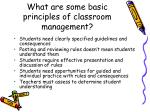 what are some basic principles of classroom management