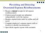 preventing and detecting overstated expense reimbursements