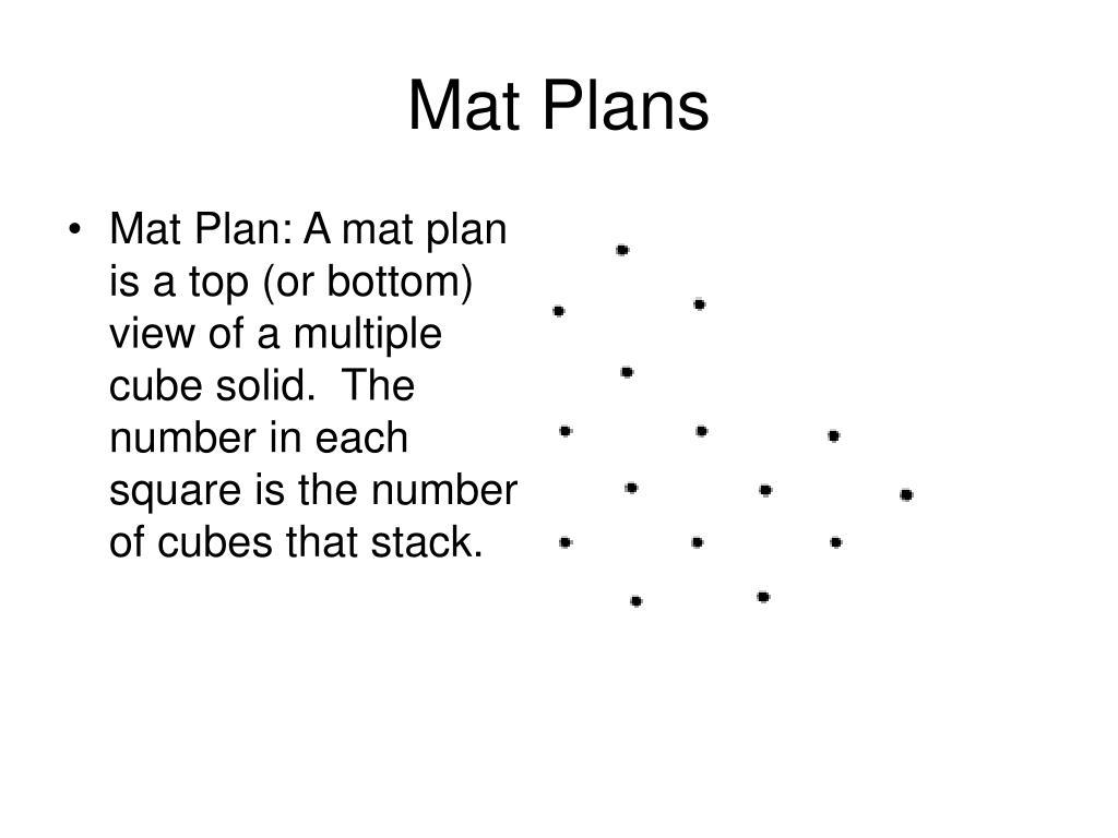 Mat Plans