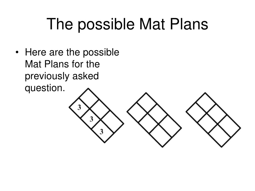 The possible Mat Plans