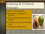 exploring k 8 schools strategies