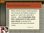 one journal summary