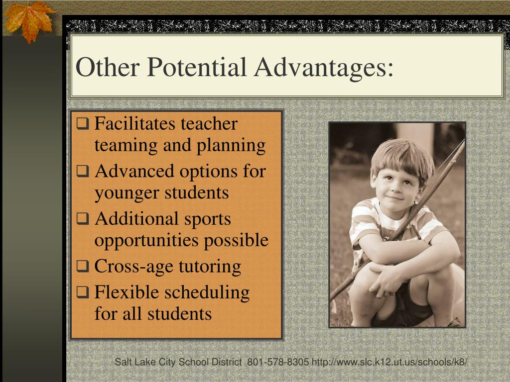 Other Potential Advantages: