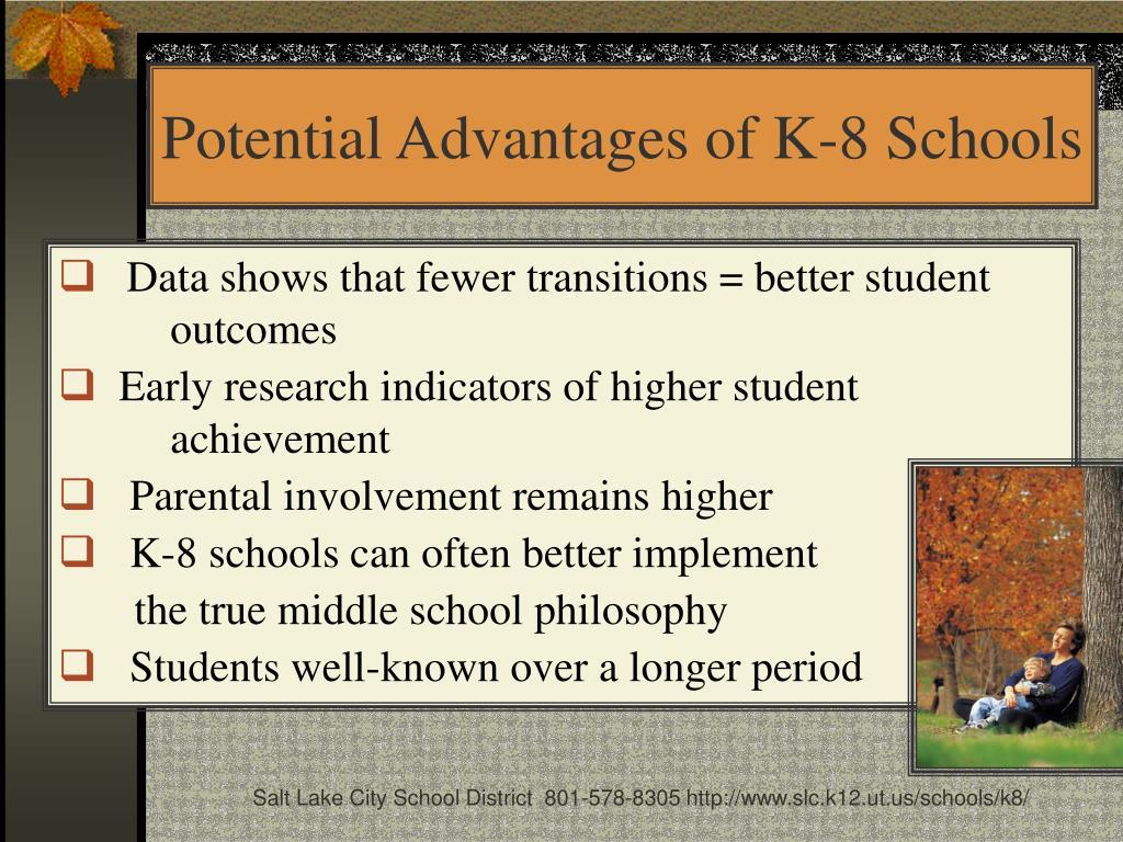 Potential Advantages of K-8 Schools