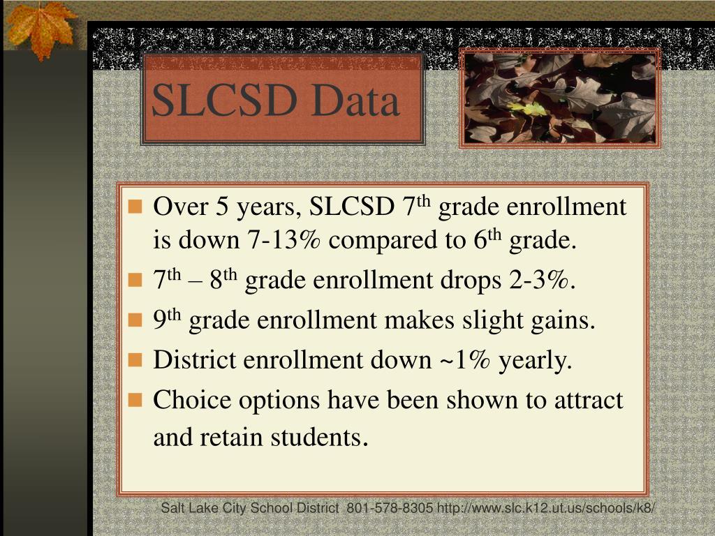 SLCSD Data