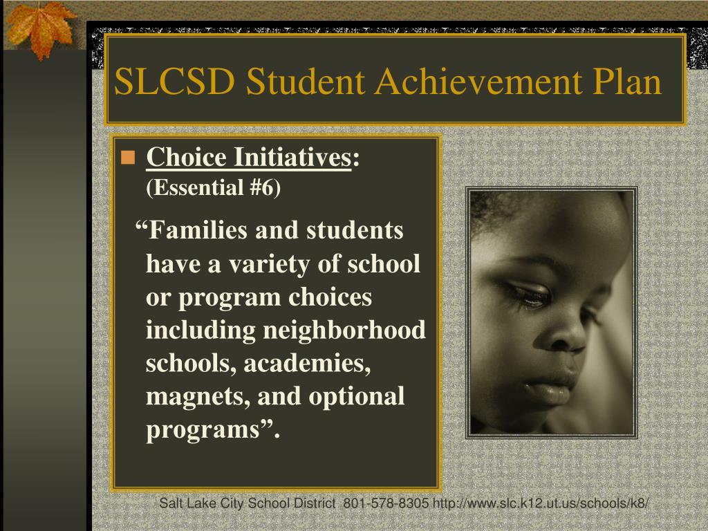 SLCSD Student Achievement Plan