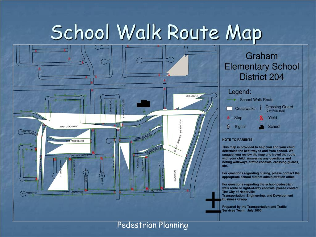 School Walk Route Map