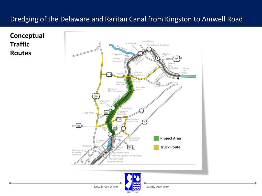 Dredging of the Delaware and Raritan Canal from Kingston to Amwell Road