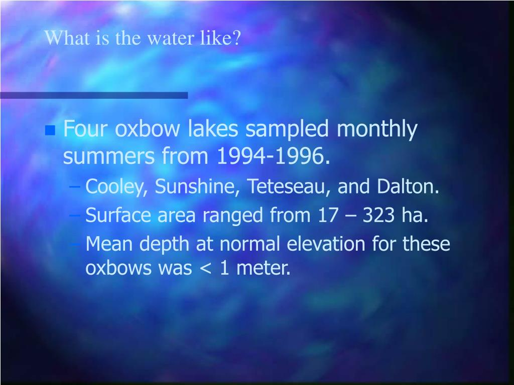 What is the water like?
