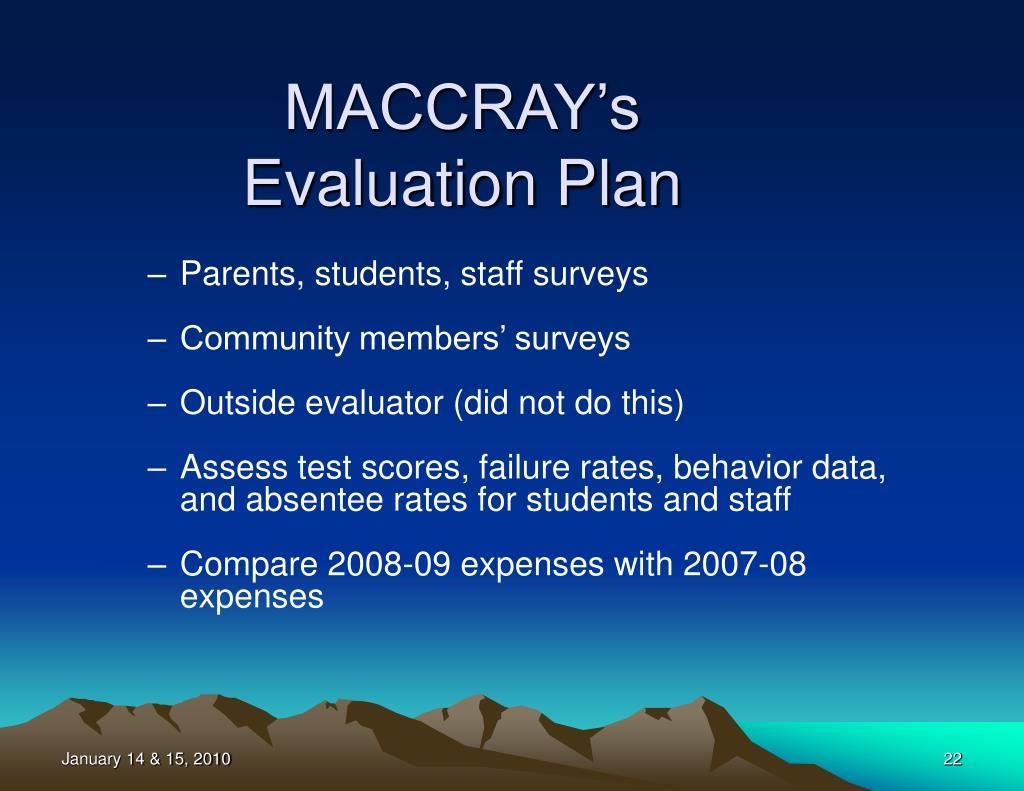 MACCRAY's