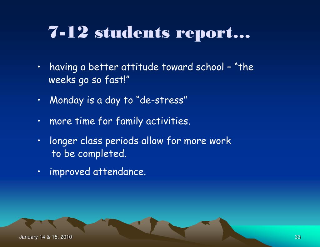 7-12 students report…