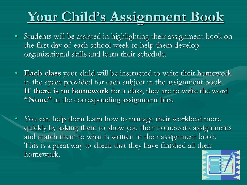 Your Child's Assignment Book