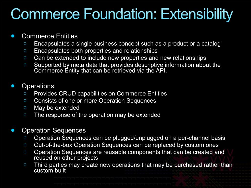 Commerce Foundation: E
