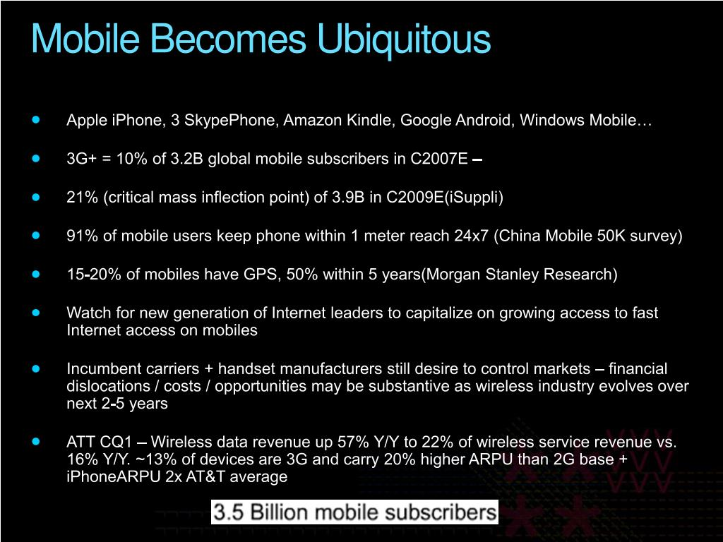 Mobile Becomes Ubiquitous