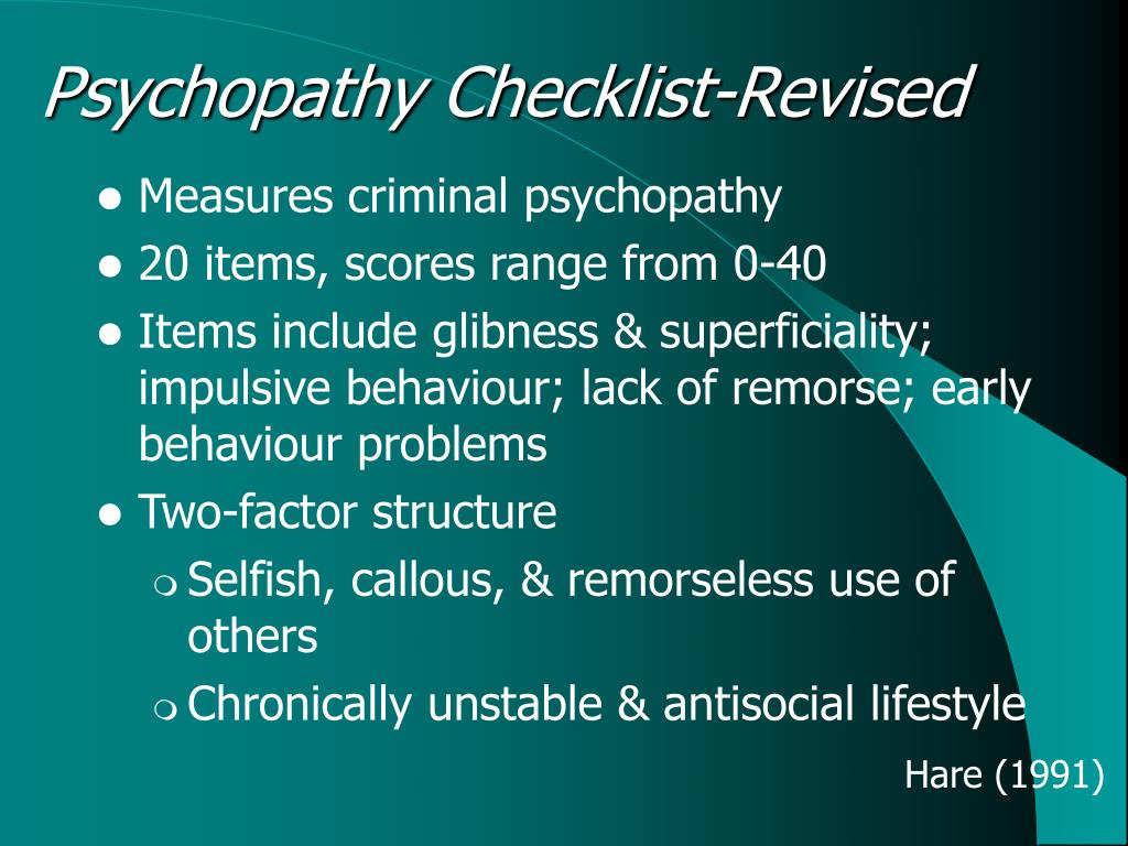 Psychopathy Checklist-Revised