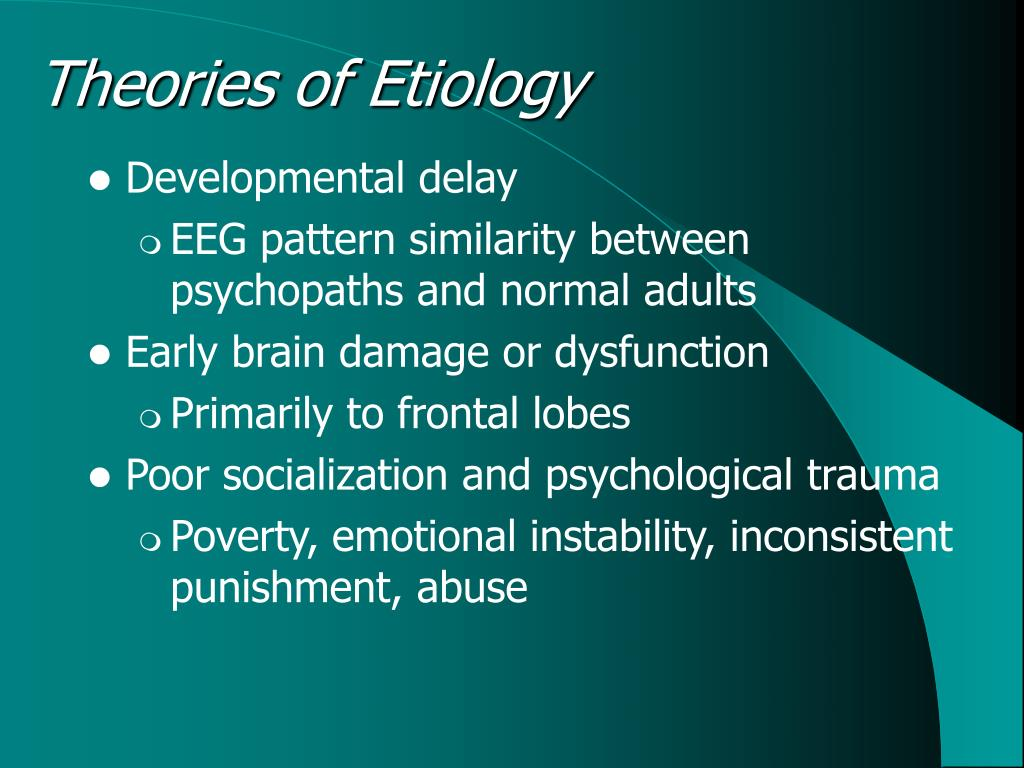 Theories of Etiology