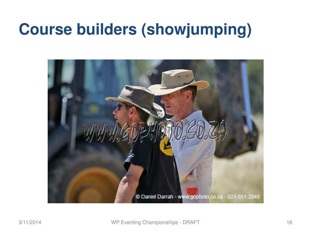 Course builders (showjumping)