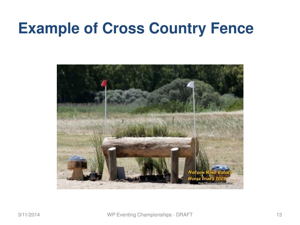 Example of Cross Country Fence