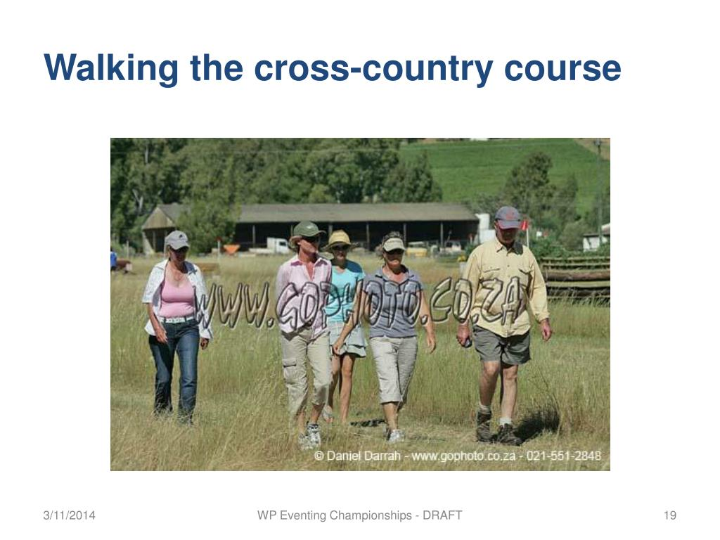 Walking the cross-country course