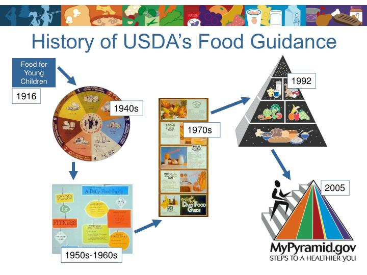 History of usda s food guidance