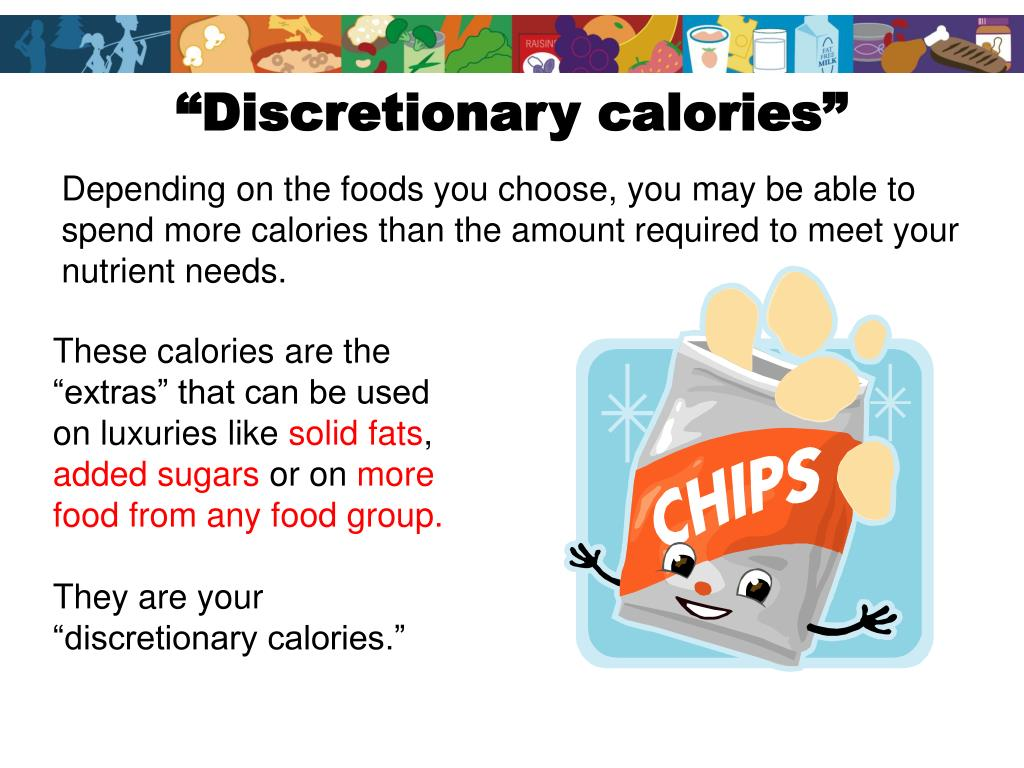 """Discretionary calories"""