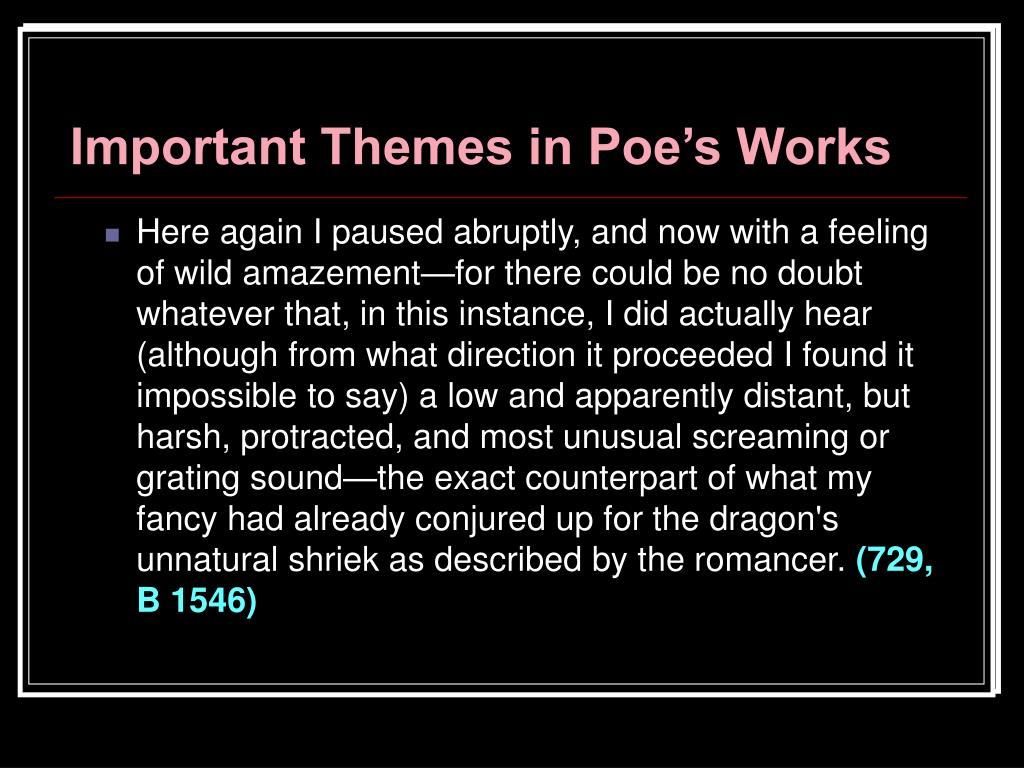 Important Themes in Poe's Works